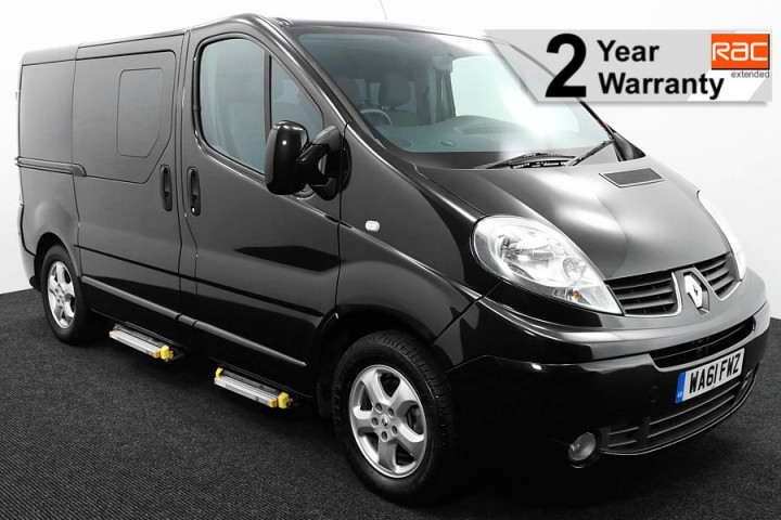 Wheelchair Accessible Vehicle WA61FWZ Renault Trafic Black 1 RAC