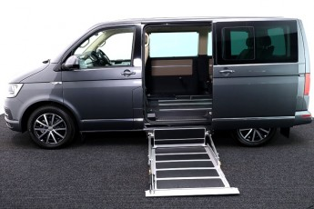 vw caravelle new grey wheelchair accessible vehicle uf lift transfer 6 2