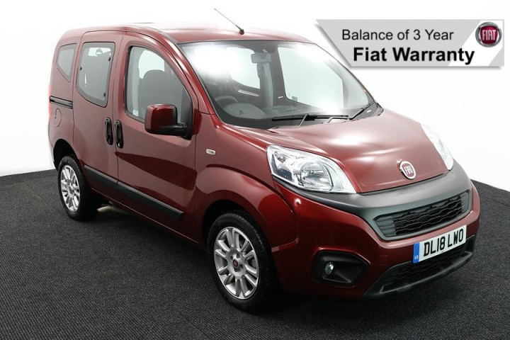 Wheelchair Accessible Vehicle Nav DL18NWO FIIAT QUBO RED2 2